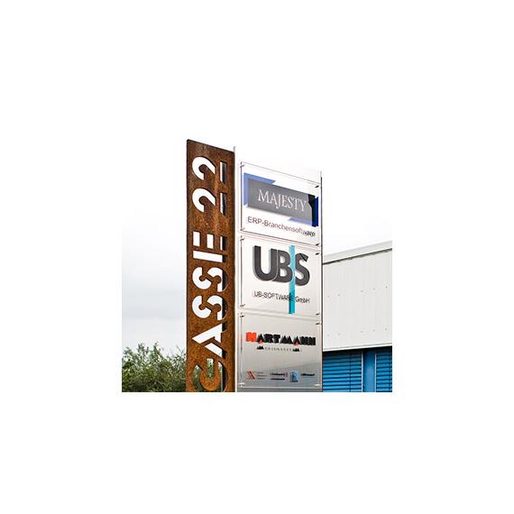 UB SOFTWARE Standschild Metall 570-ARBEITEN
