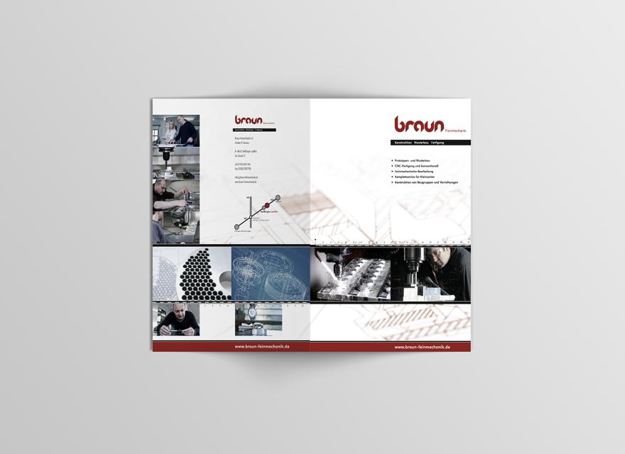 Broschüre A4 BRAUN-Feinmechanik