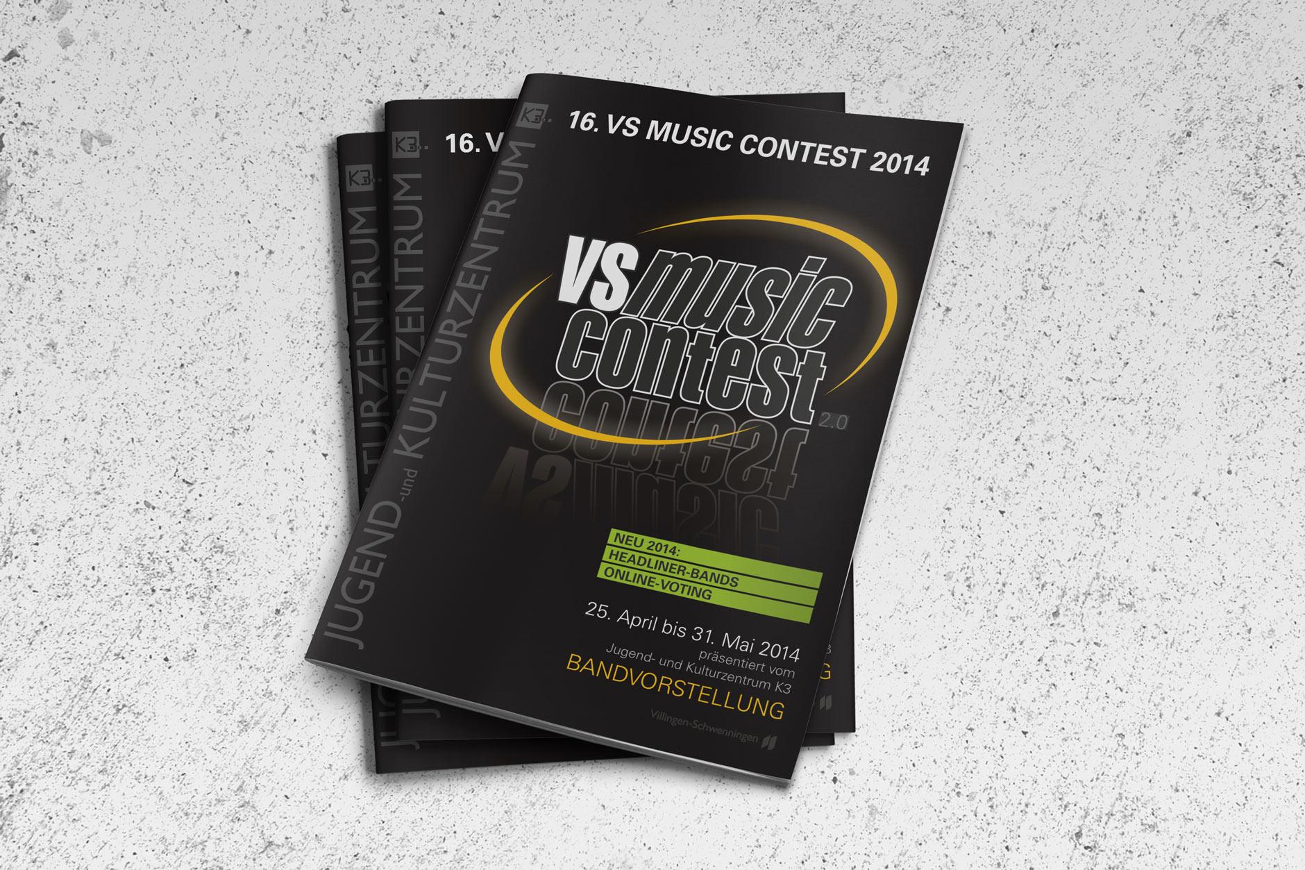 Gestaltung Infomaterialr für den VS MUSIC CONTEST