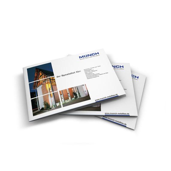 Gestaltung Werbebroschuere Metallbau Münch