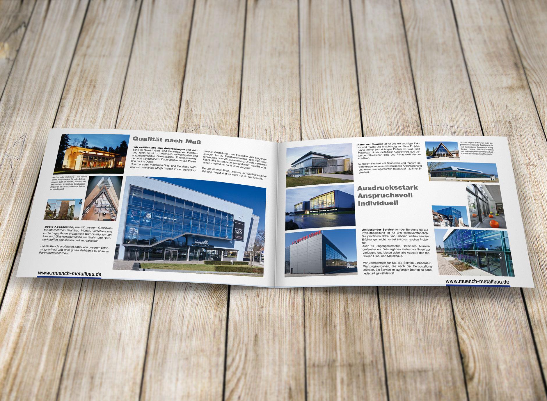 Design Broschüre MUENCH-METALLBAU