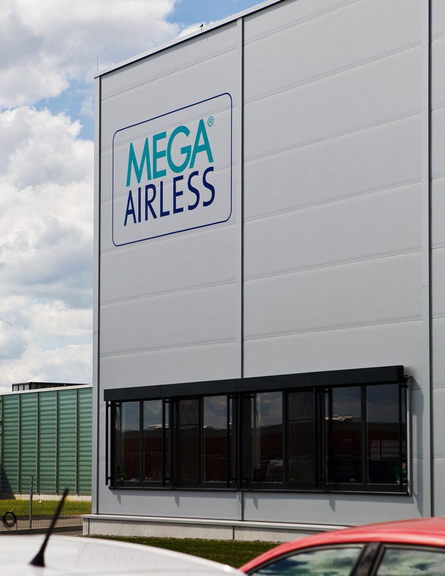 Objektbeschriftung MEGA-AIRLESS
