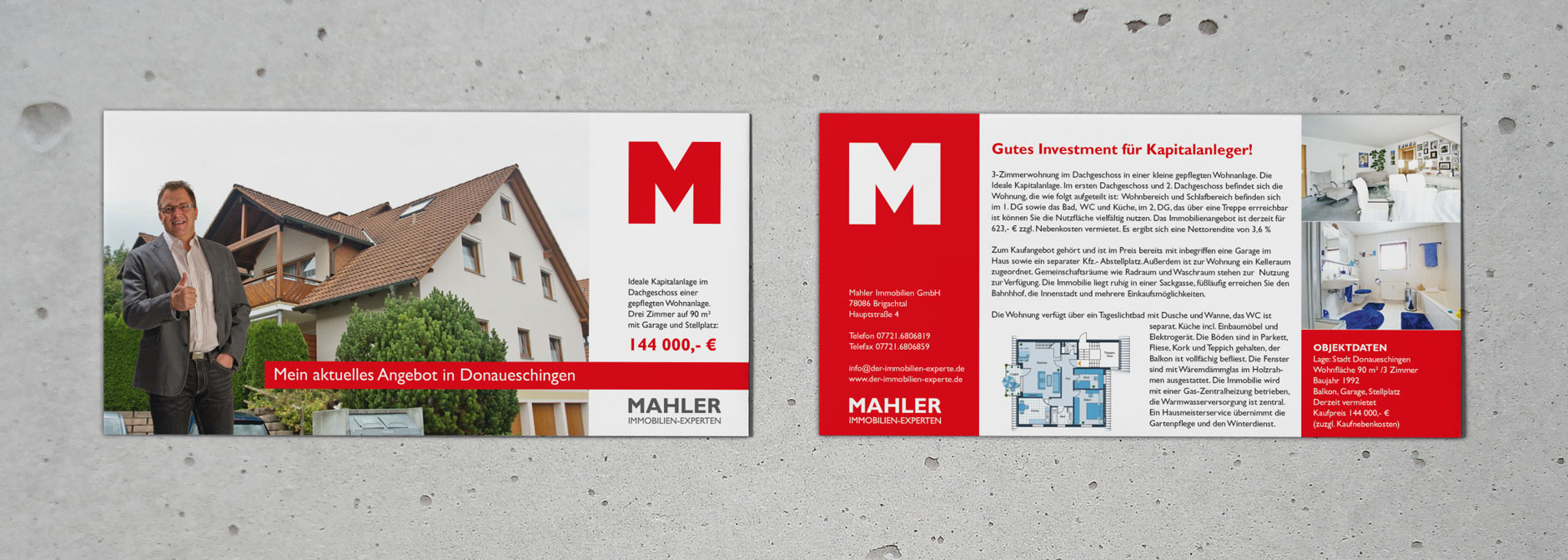 Flyer Design Mahler-Immobilien