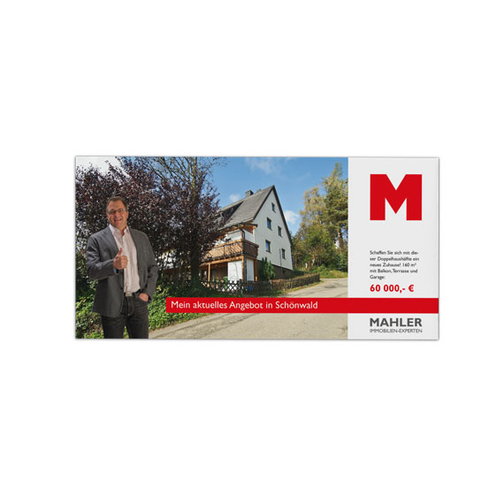 Werbeflyer Mahler Immobilien 570-ARBEITEN