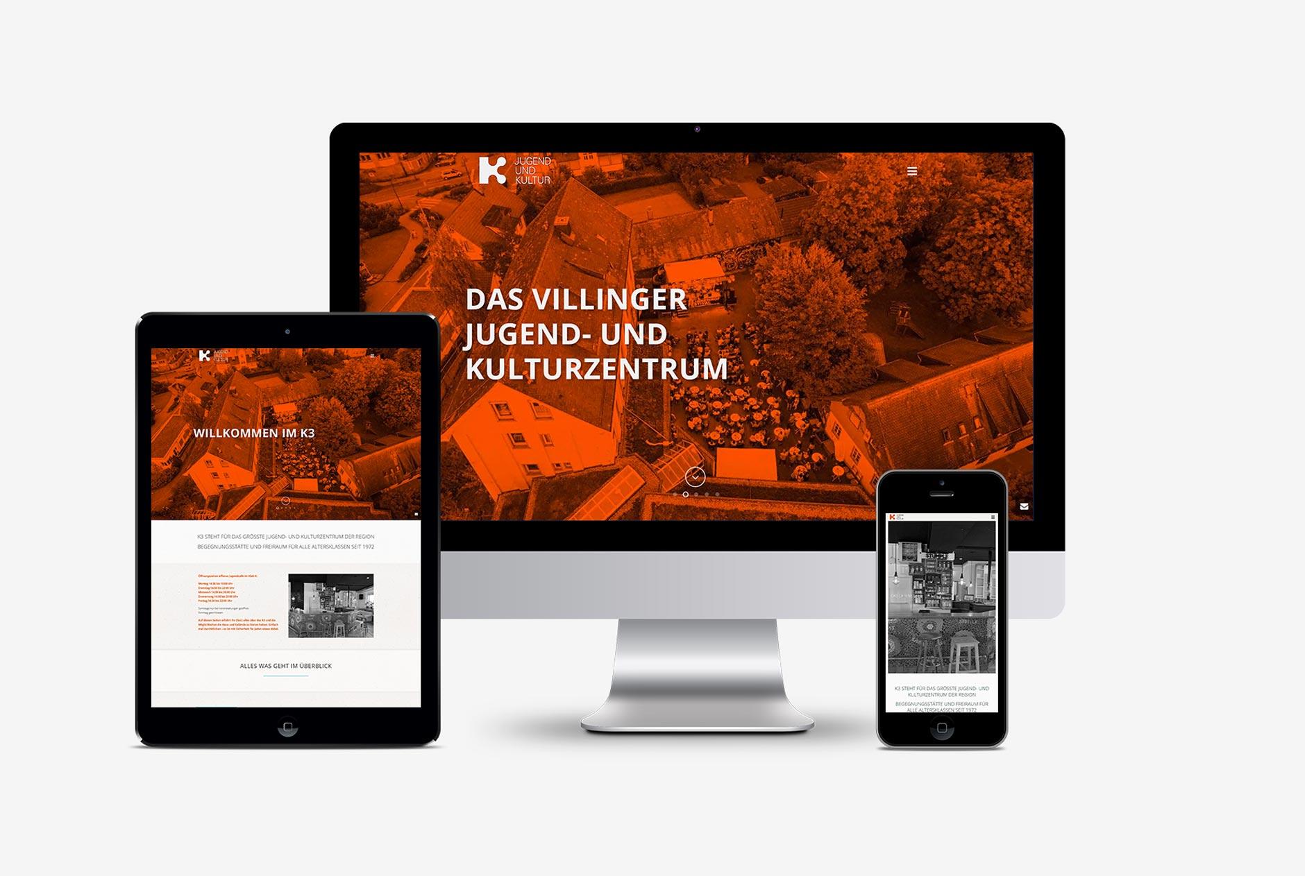 K3 jugend und kulturzentrum villingen schwenningen webdesign-Webdesign K3 Villingen-Schwenningen