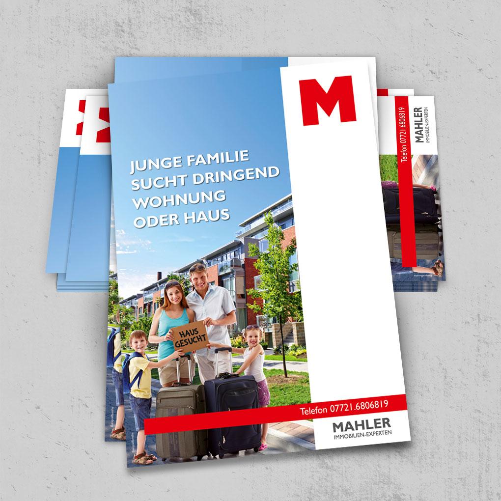 Flyer Design Mahler-Immobilien