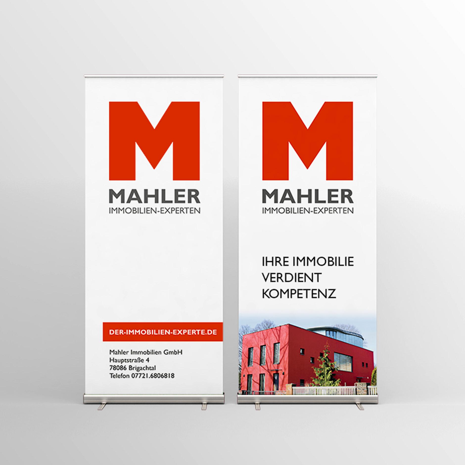 Gestaltung Rollup-Display für MAHLER IMMOBILIEN