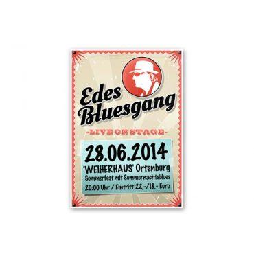 Plakatgestaltung EDES BLUESGANG