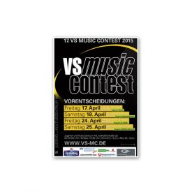 Plakat VS MUSIC CONTEST