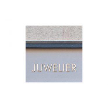 Edelstahl-Beschriftung Juwelier Müller