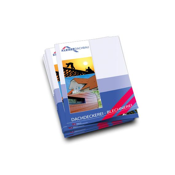 Broschuerengestaltung Kleiser Dachbau 570-ARBEITEN