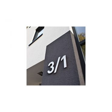 Hausnummern Edelstahl