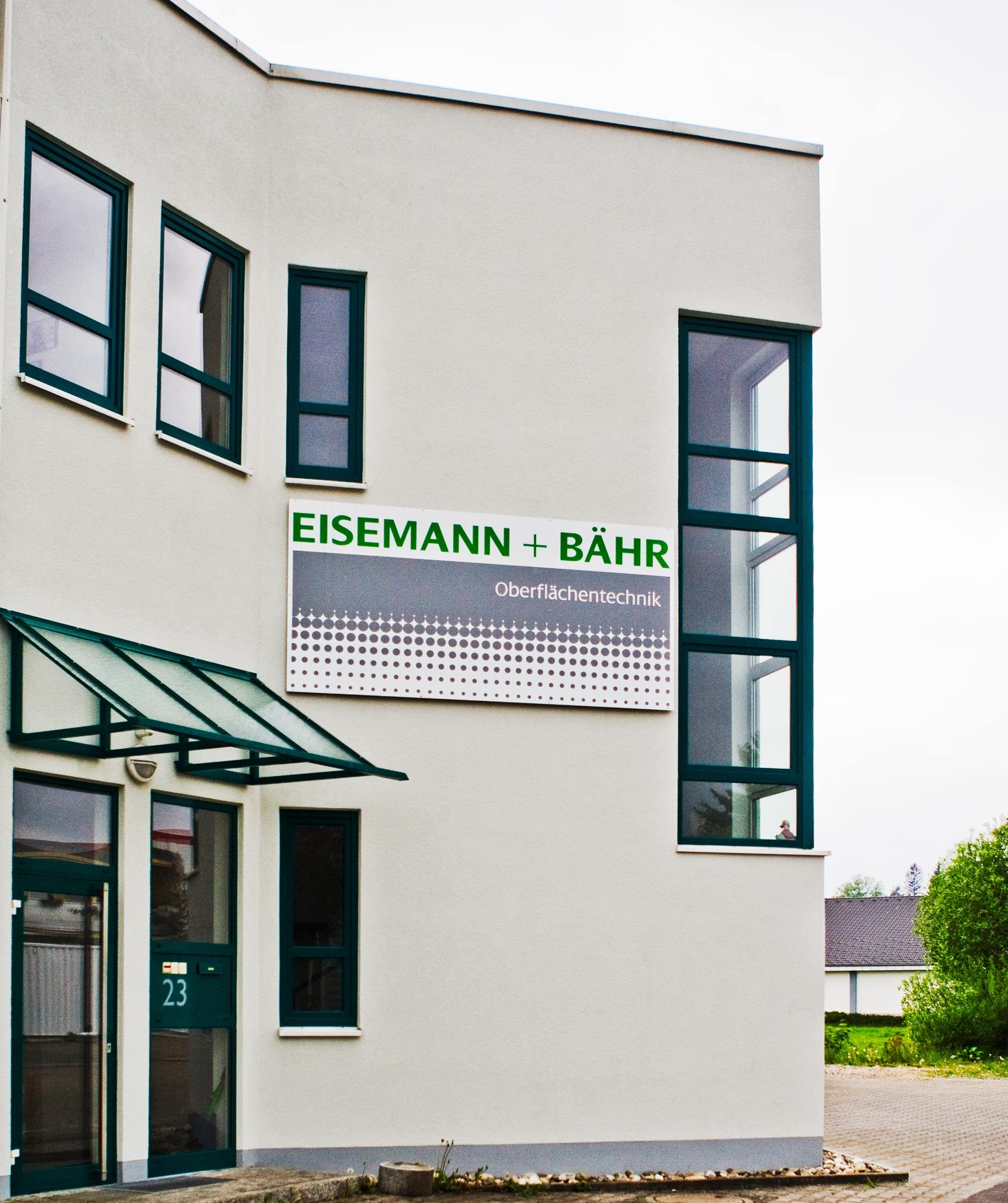 Eisemann Werbeschild 01-Firmenschild EISEMANN+BÄHR