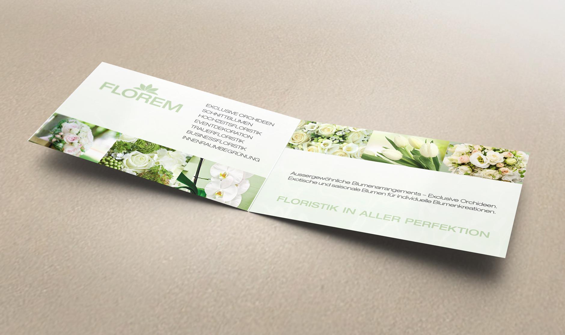 Visitenkarte Florem Tectra Design Grafikdesign Webdesign