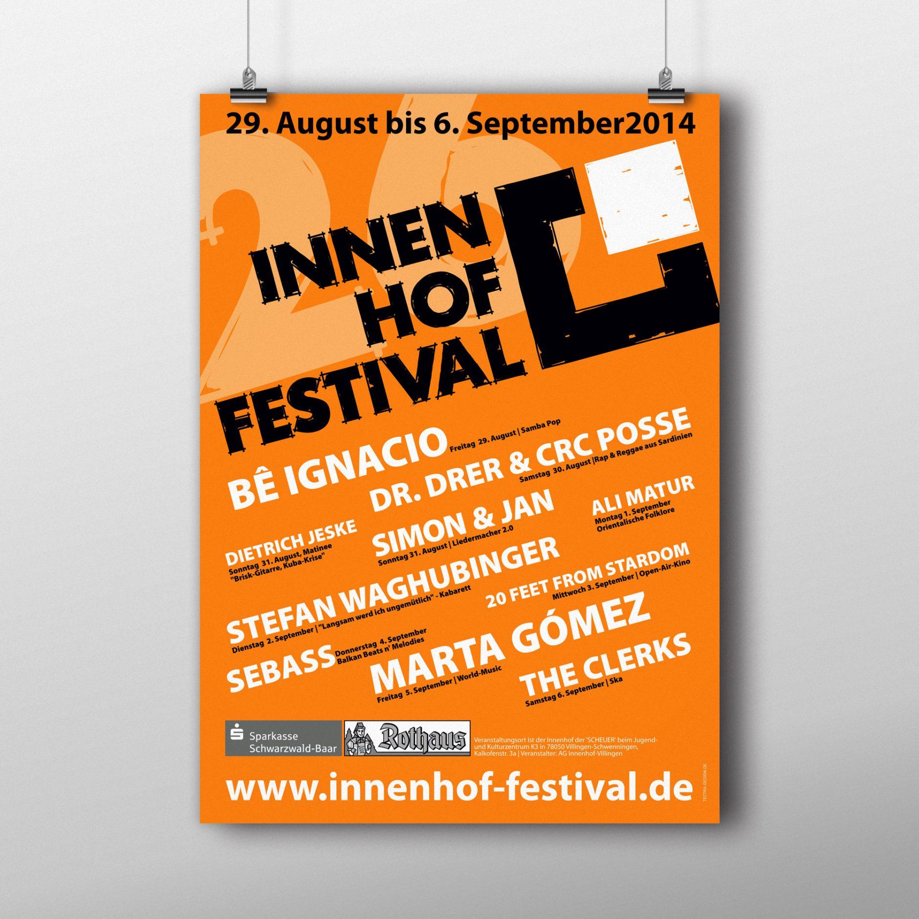Plakat INNENHOF-FESTIVAL