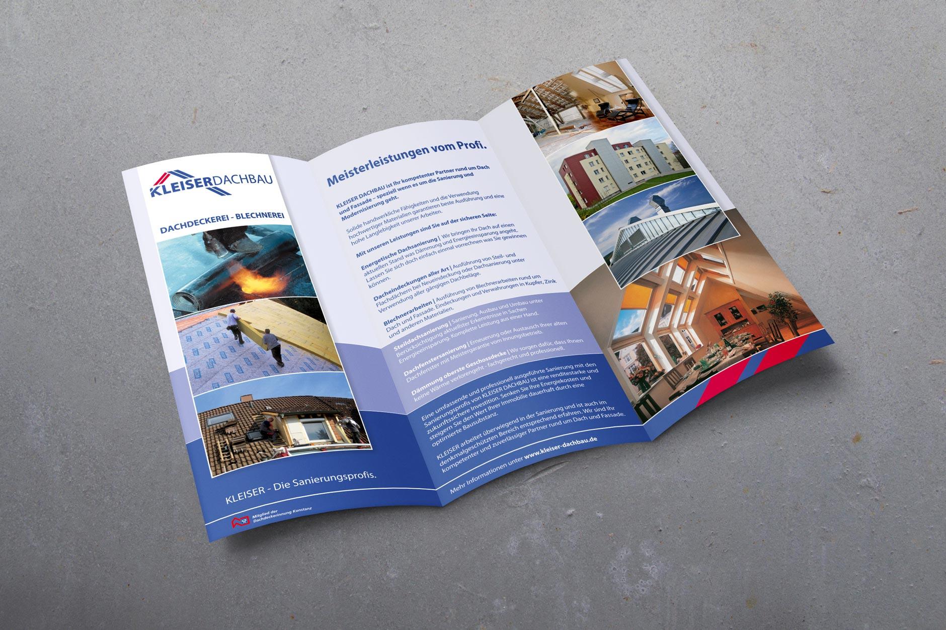 Flyer Design KLEISER-DACHBAU