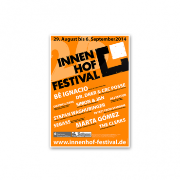 Plakatgestaltung INNENHOF-FESTIVAL
