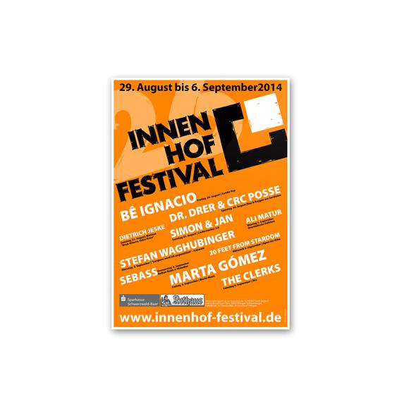 Plakatgestaltung Innenhof Festival 570-ARBEITEN