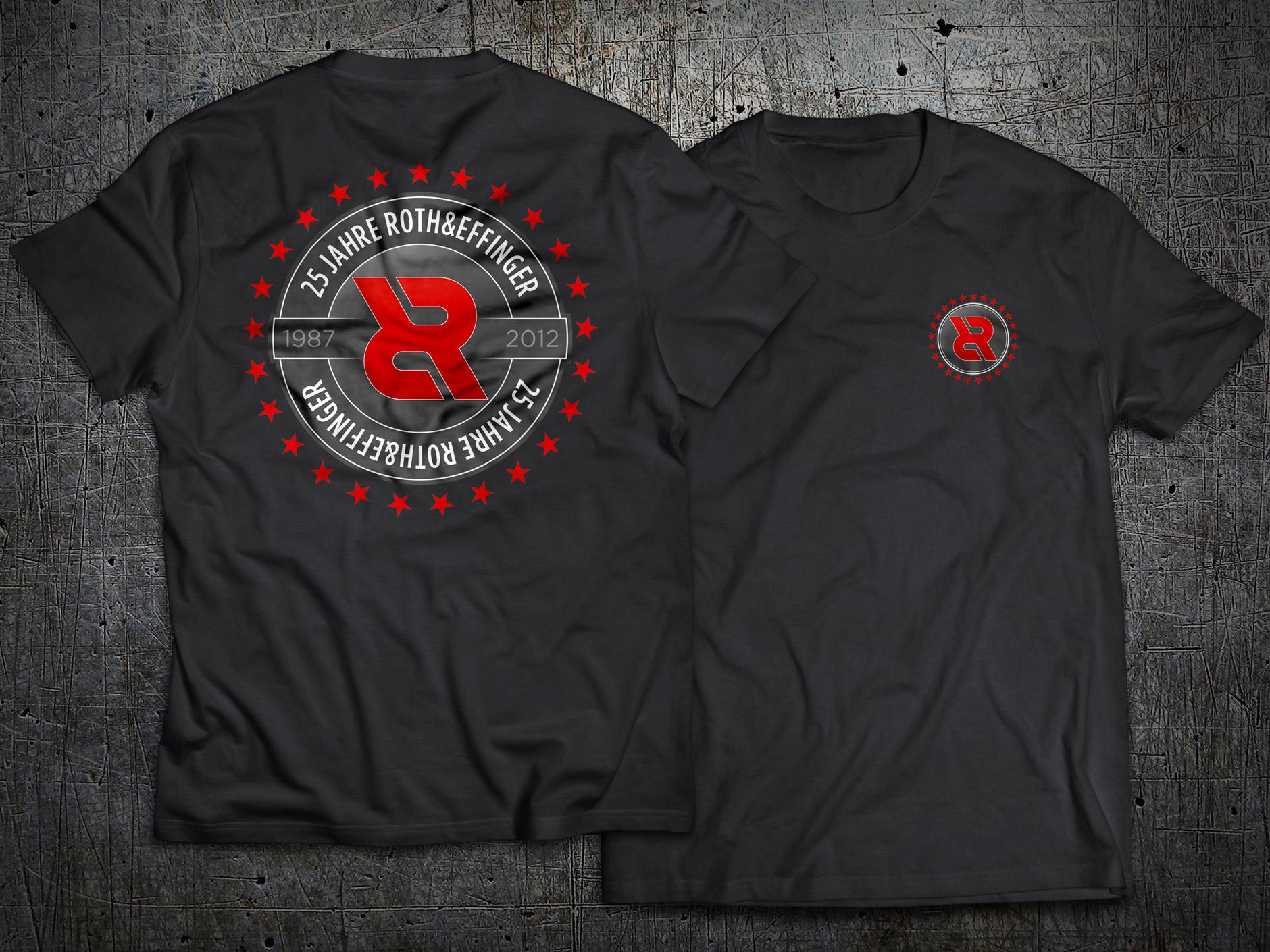 T-Shirt Design ROTH&EFFINGER 25Jahre