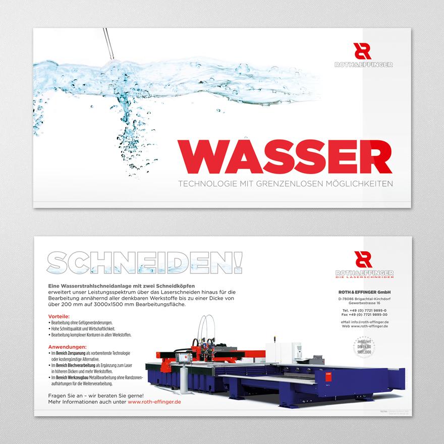 Gestaltung Flyer ROTH&EFFINGER