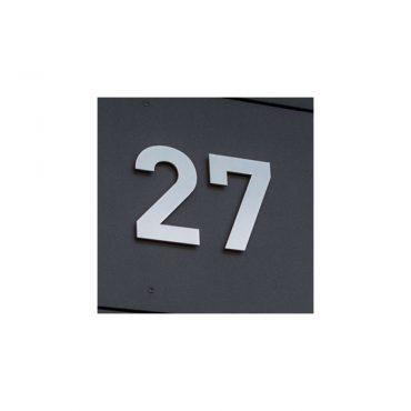 HAUSNUMMER 27 EDELSTAHL