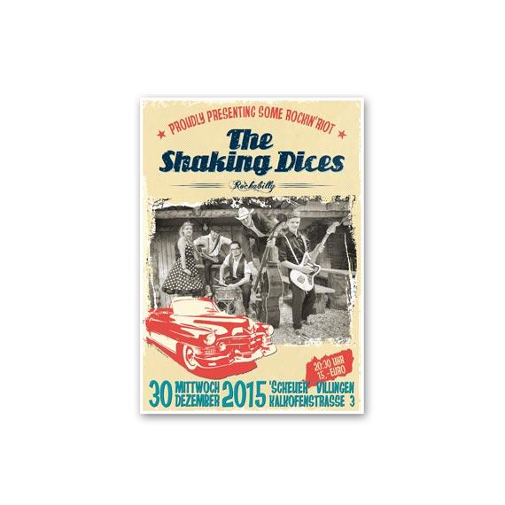 Plakatgestaltung Shaking Dices 570-ARBEITEN