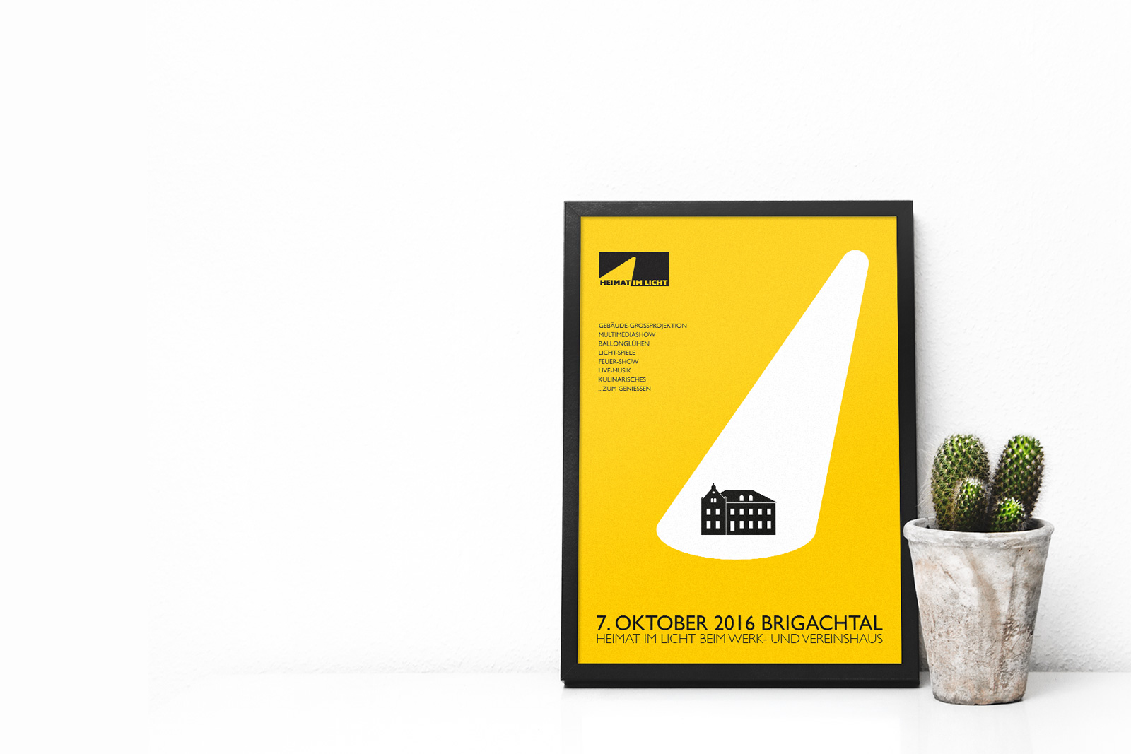 Poster HIL-HEIMAT IM LICHT Logodesign Webdesign Printdesign