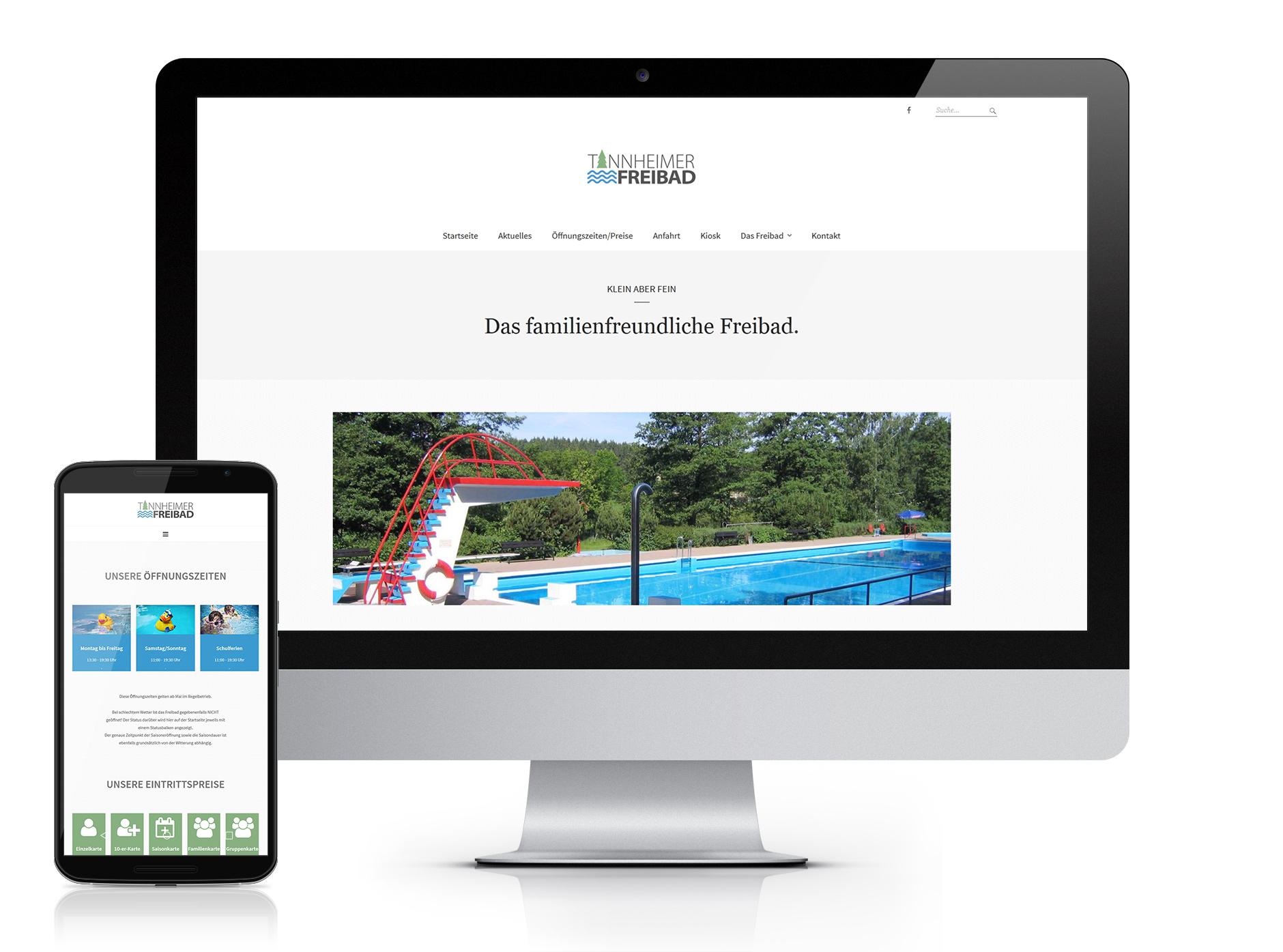 WEB Tannheimer Freibad screen-Webdesign Tannheimer Freibad