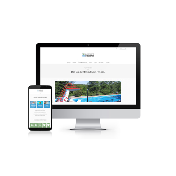 Webdesign Tannheimer Freibad