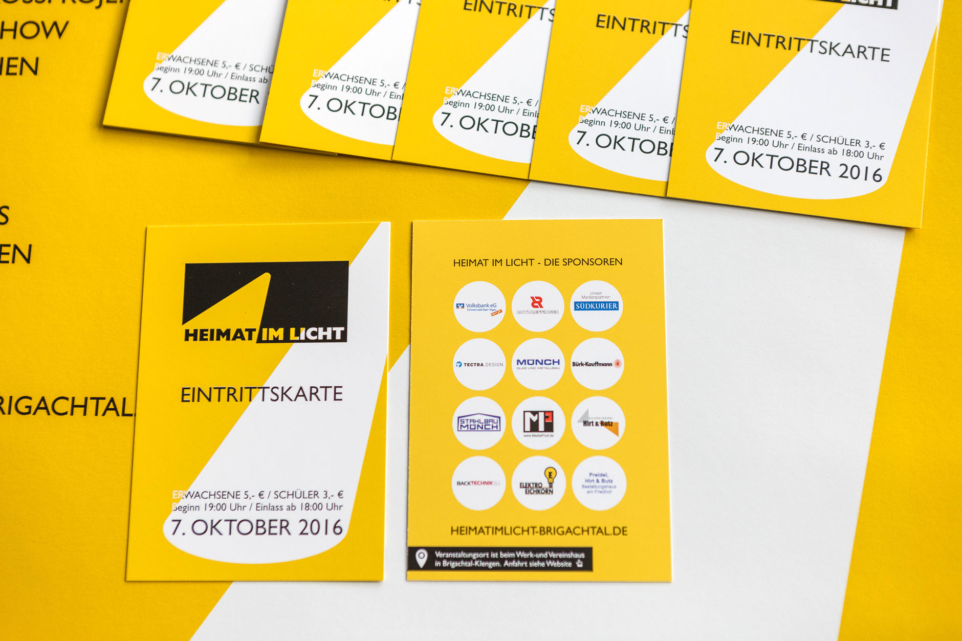 Heimat Im Licht Brigachtal Eintrittskarten-HEIMAT IM LICHT Logodesign Webdesign Printdesign