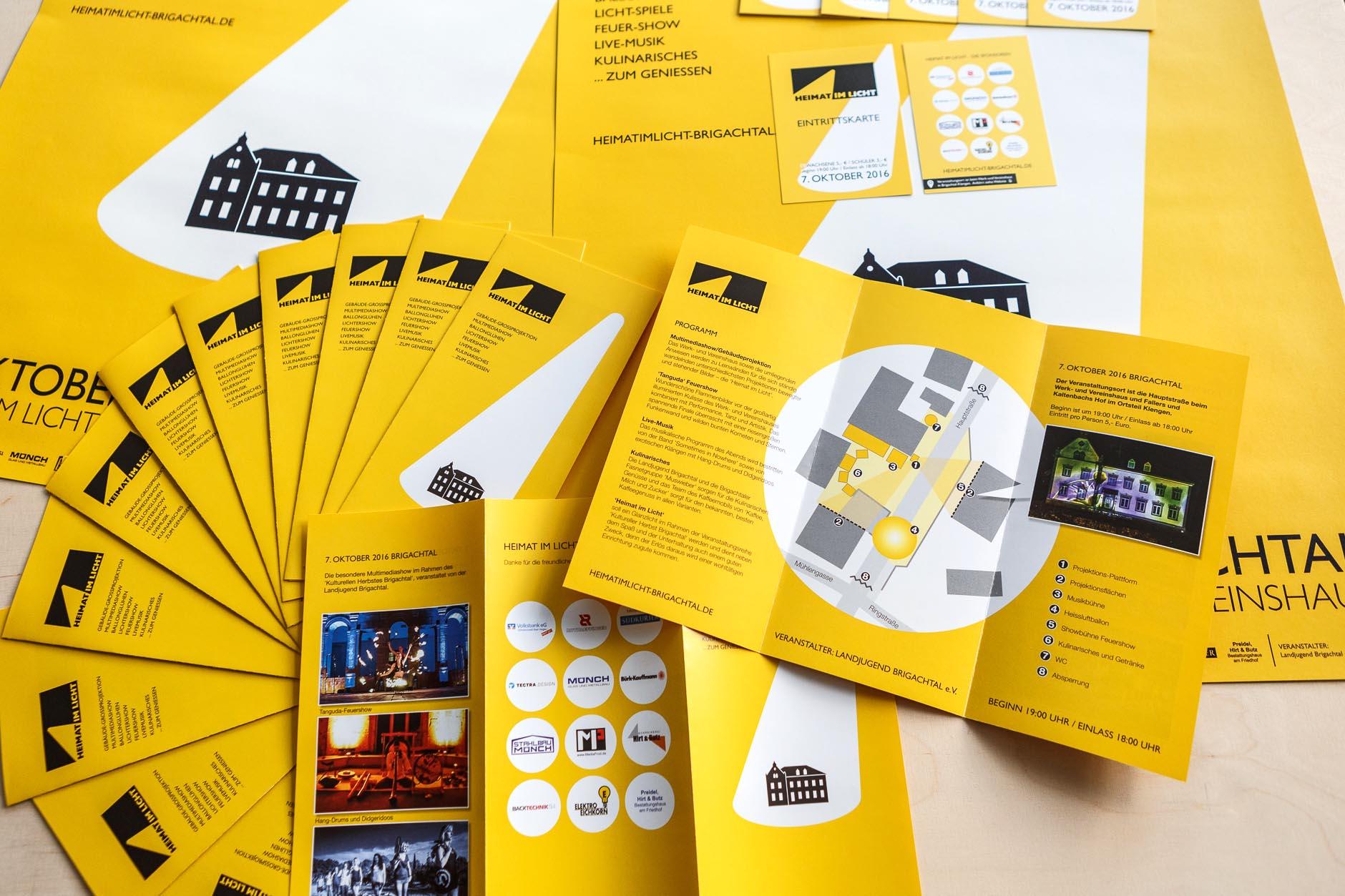 Heimat Im Licht Brigachtal Flyer-HEIMAT IM LICHT Logodesign Webdesign Printdesign