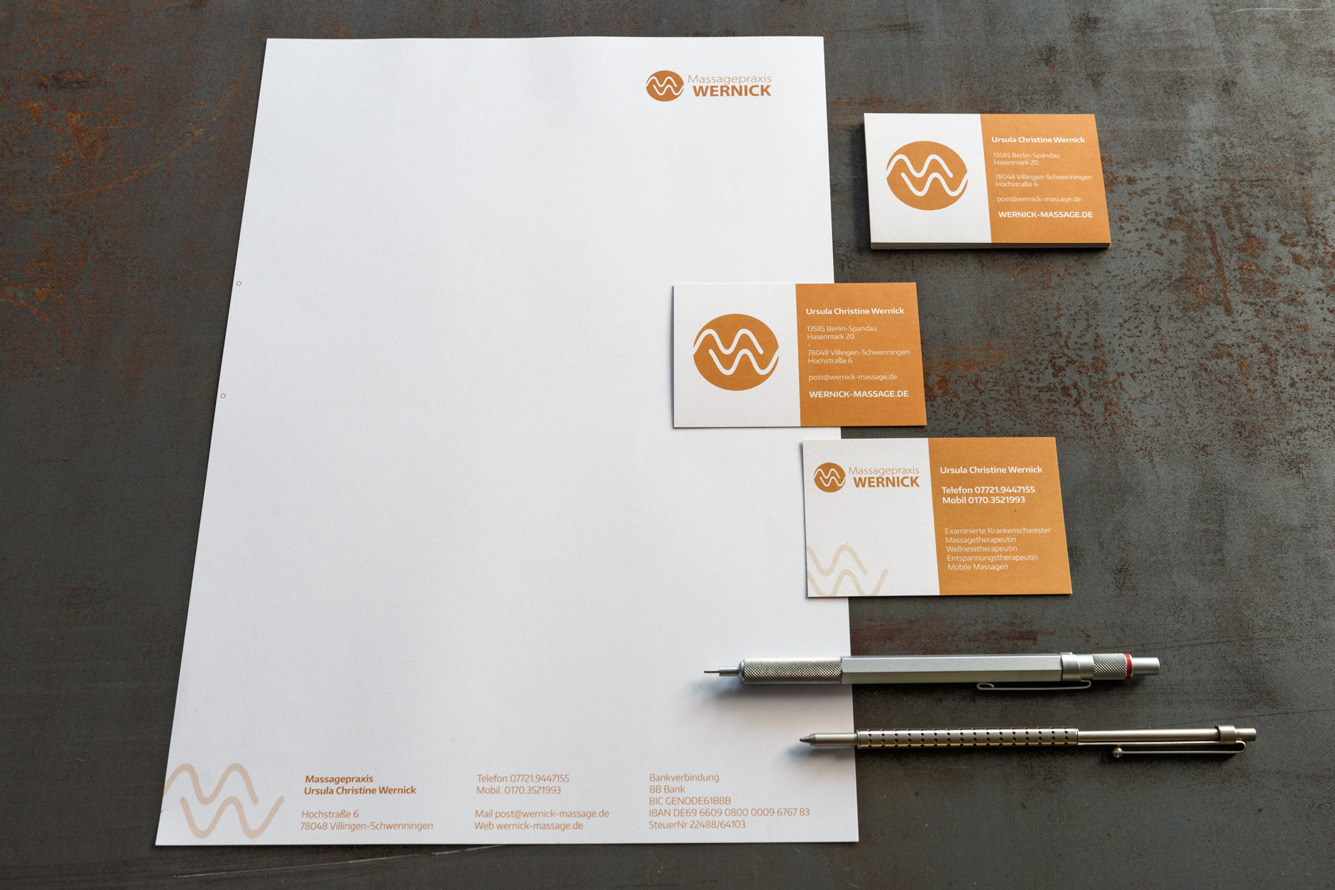 Wernick Visitenkarten Briefpapier Flyer Tectra Design