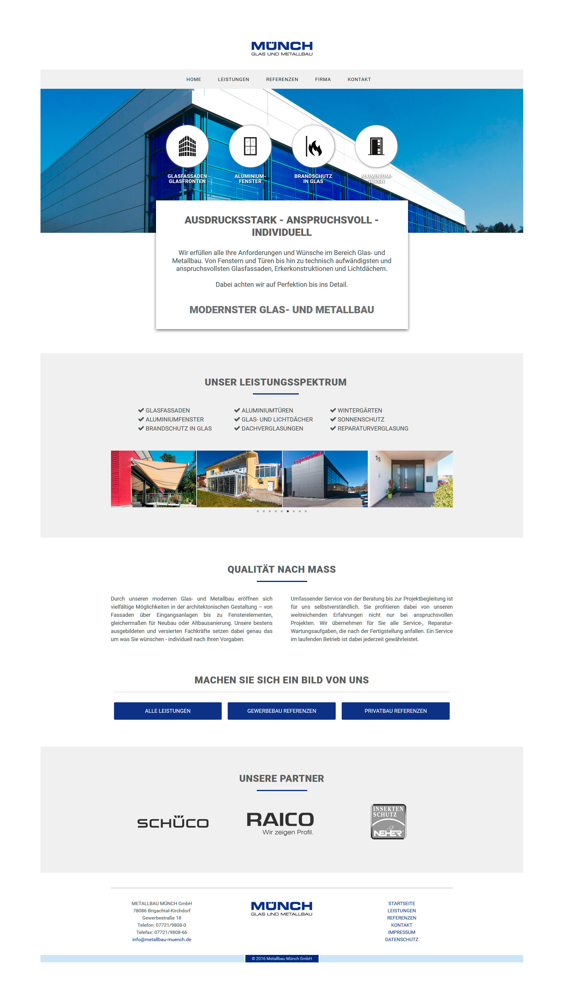 Webdesign Metallbau Münch