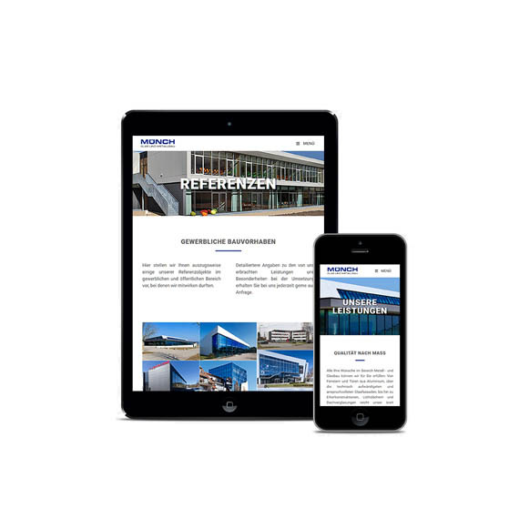 Webdesign Metallbau Muench Ipad iPhone
