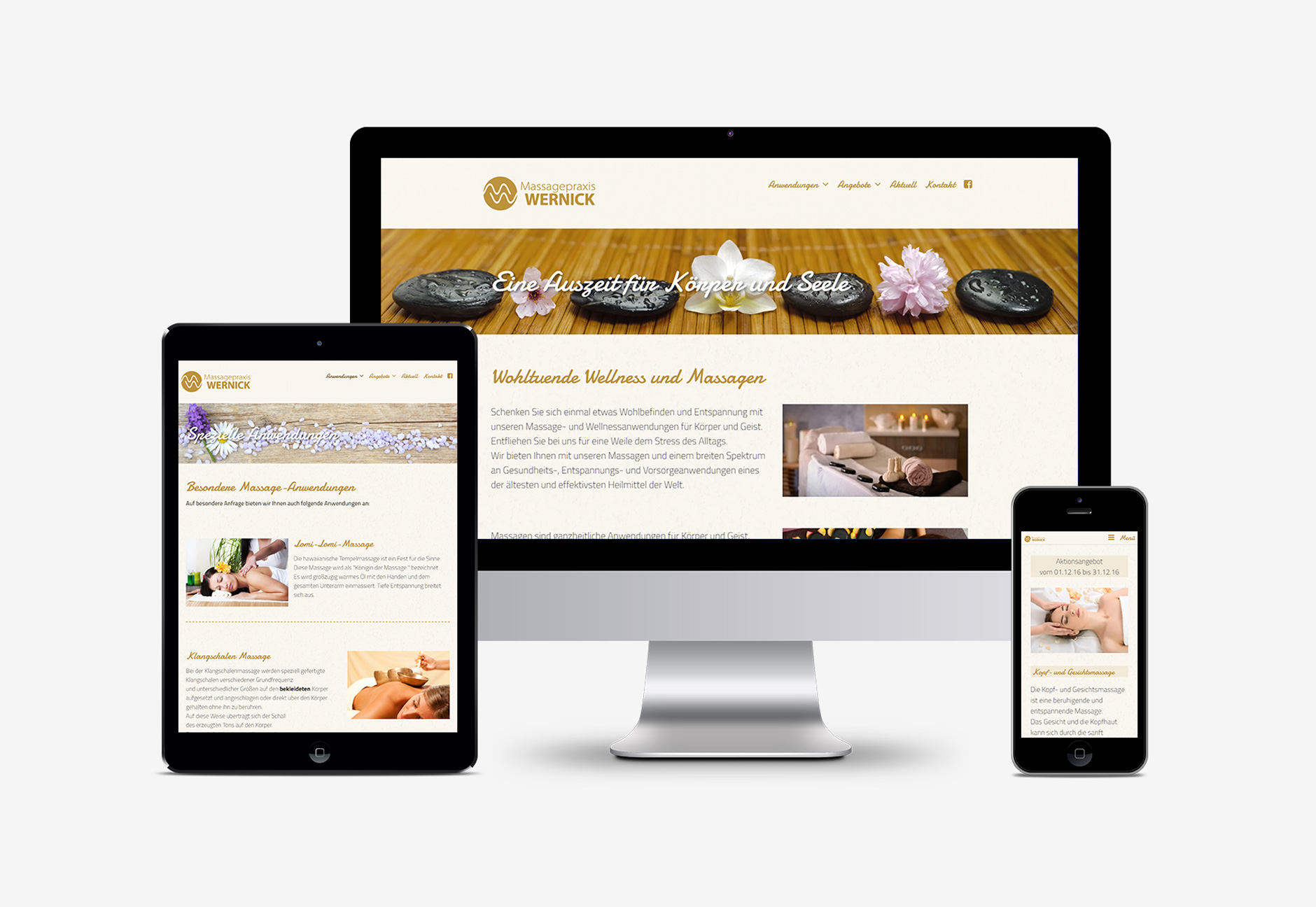 Massagepraxis Wernick Website Responsive Wordpress-Massagepraxis Wernick Webdesign
