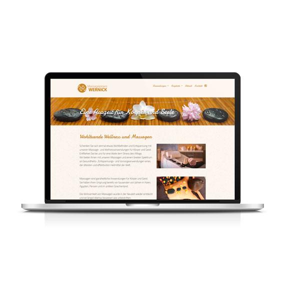 Webdesign Wernick Massagepraxis 570-ARBEITEN