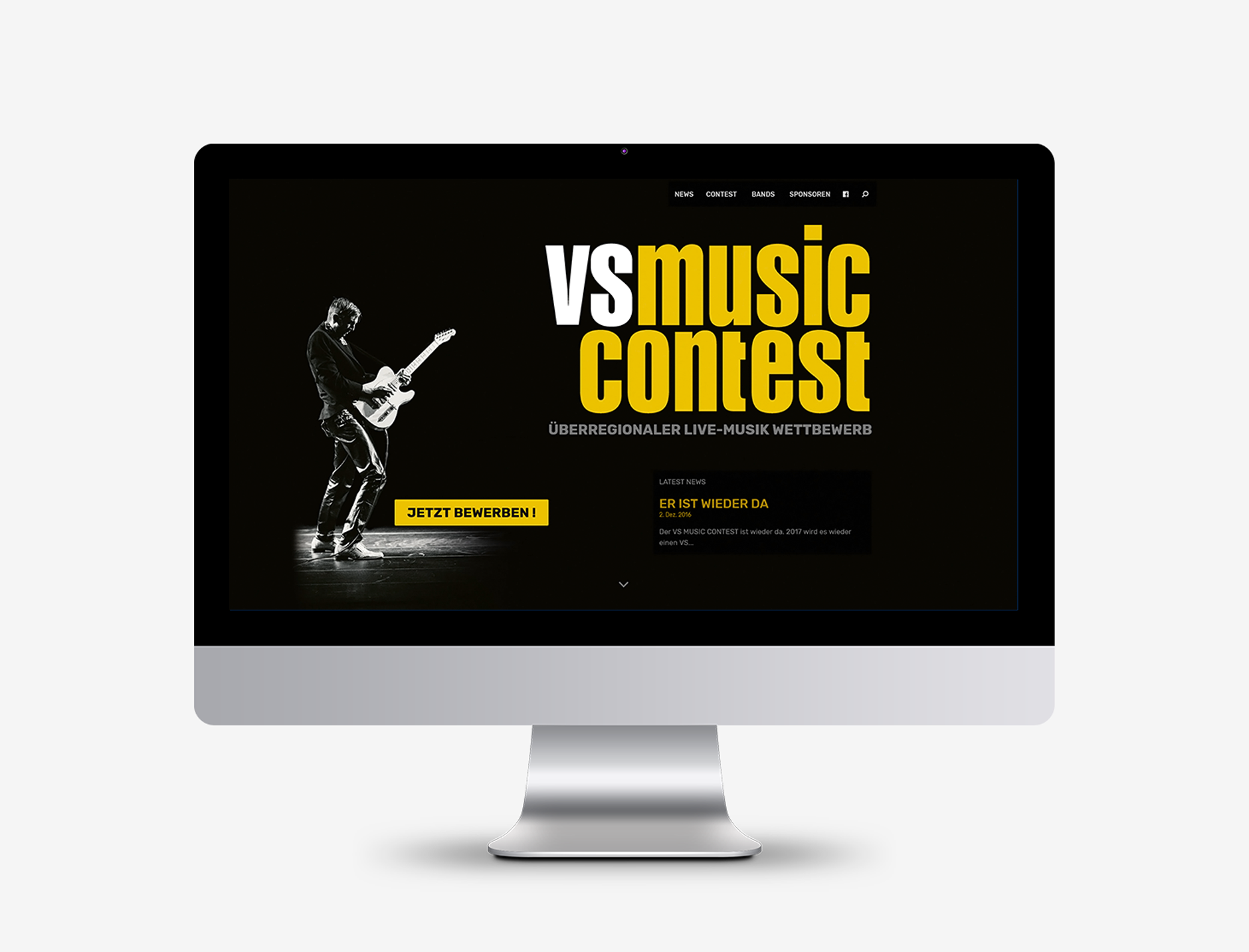 Webseite Design neue Homepage VS MUSIC CONTEST
