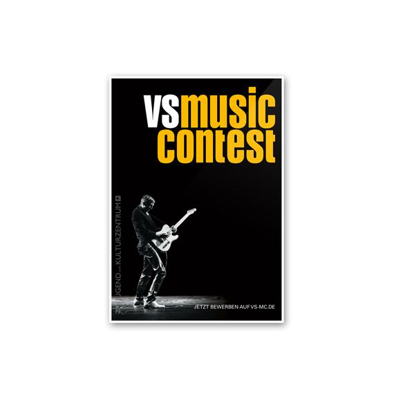 Plakatgestaltung VS MUSIC CONTEST 2017