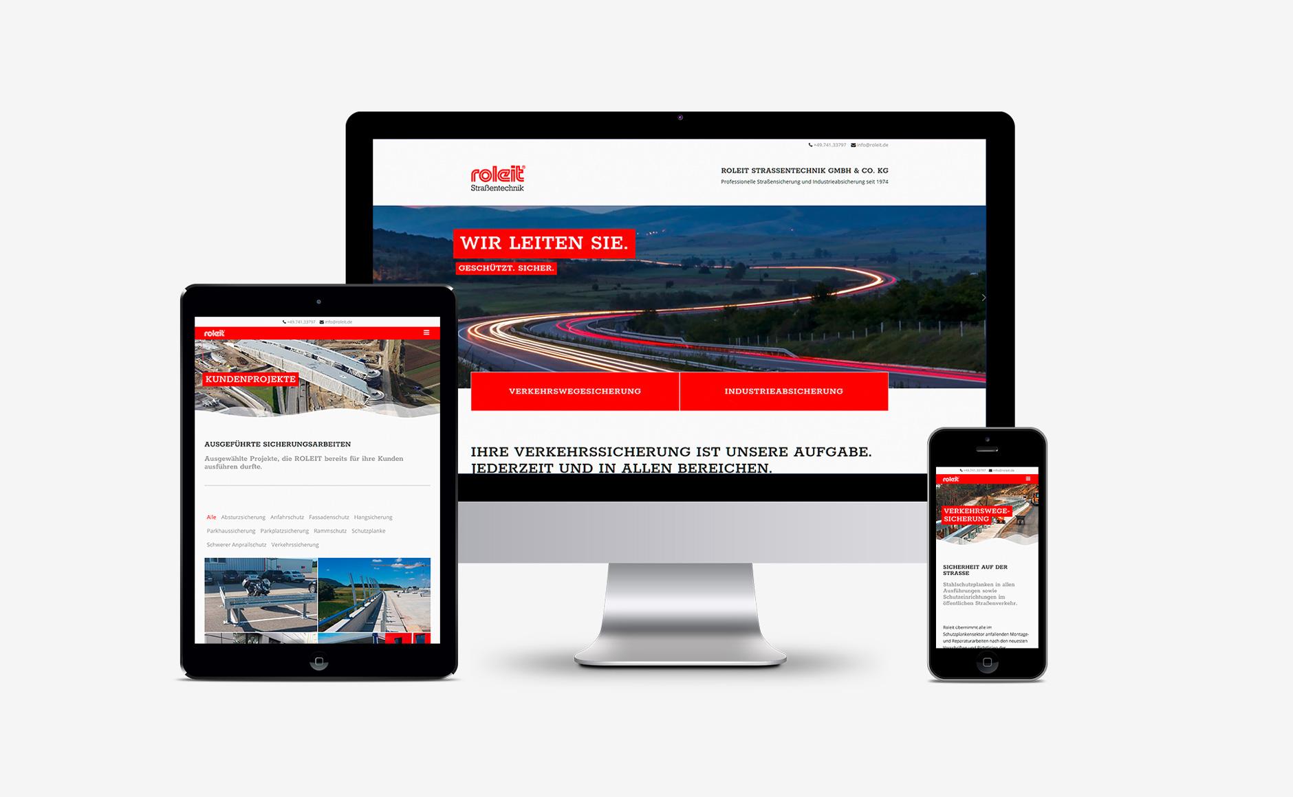 ROLEIT neue Homepage Webdesign-Webdesign ROLEIT Strassentechnik