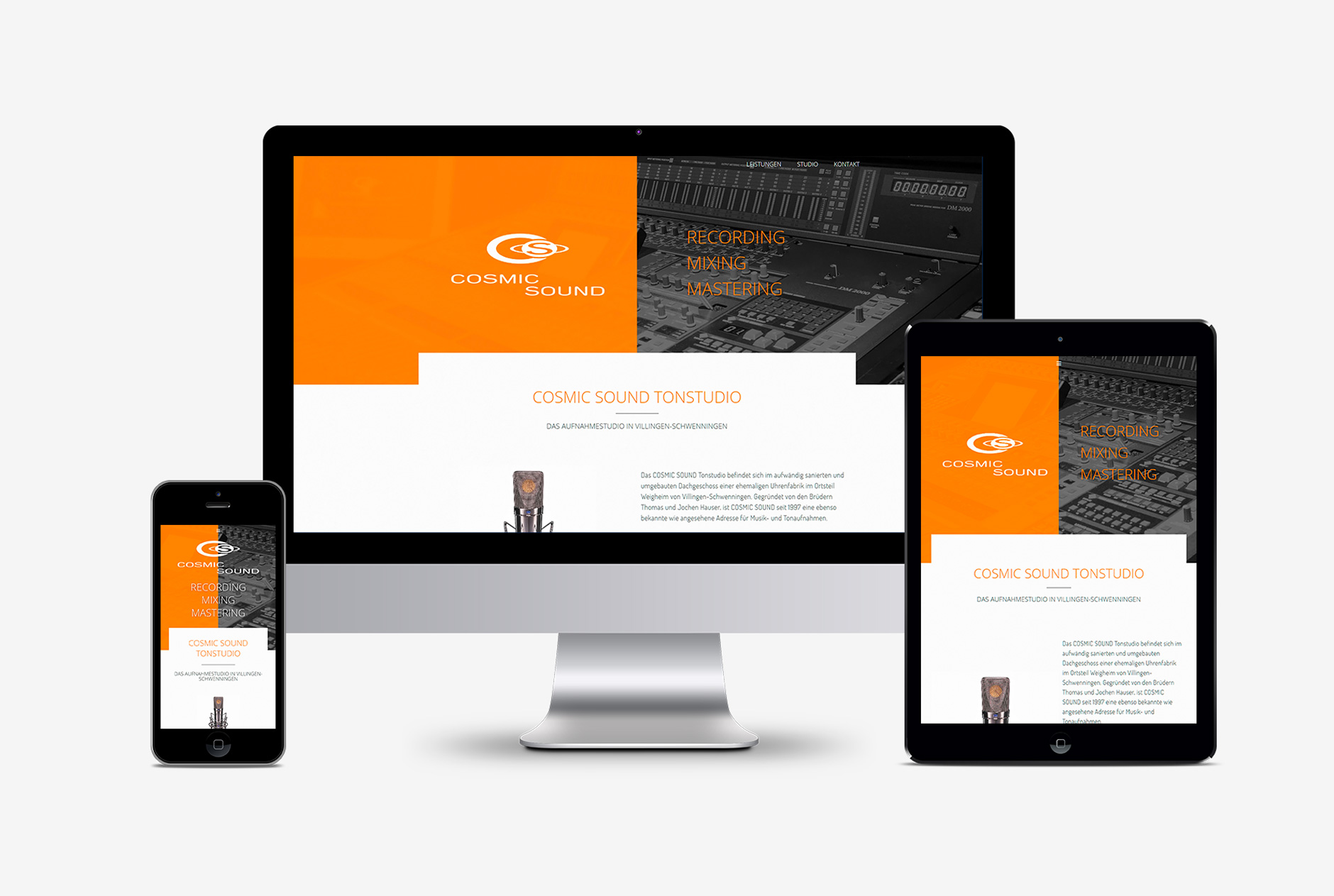 cosmic sound webdesign 2018-Webdesign COSMIC SOUND