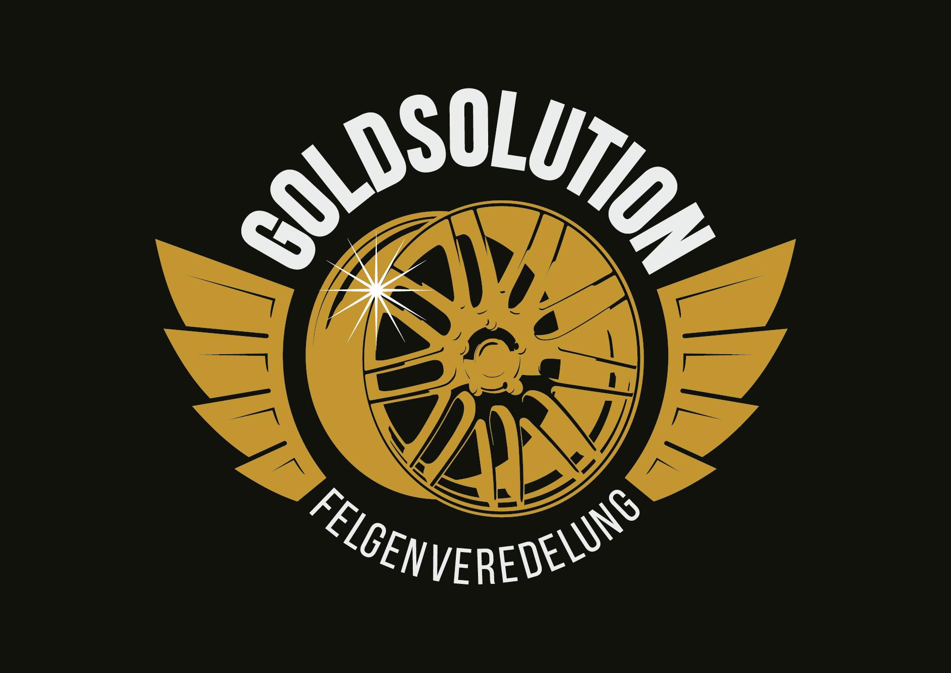 GOLDSOLUTION logodesign schwarz-Logodesign Goldsolution