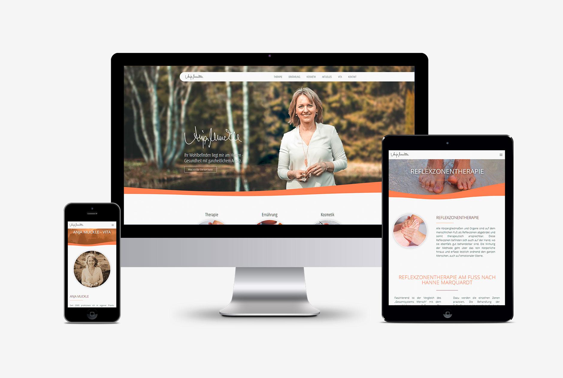anja muckle homepagegestaltung wordpress-Webdesign Homepage Anja Muckle