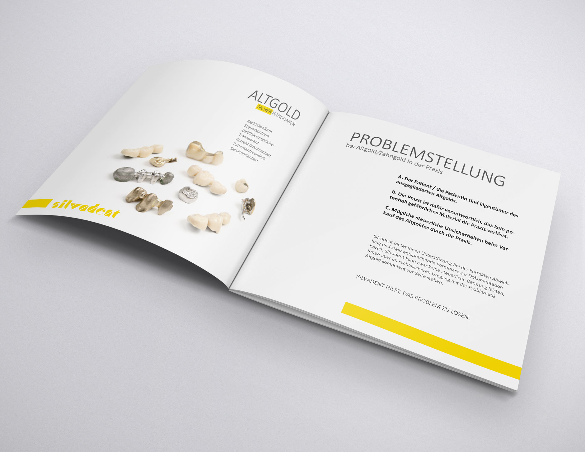 silvadent broschuere infoflyer zahngold altgold q4 23-Broschüre Silvadent