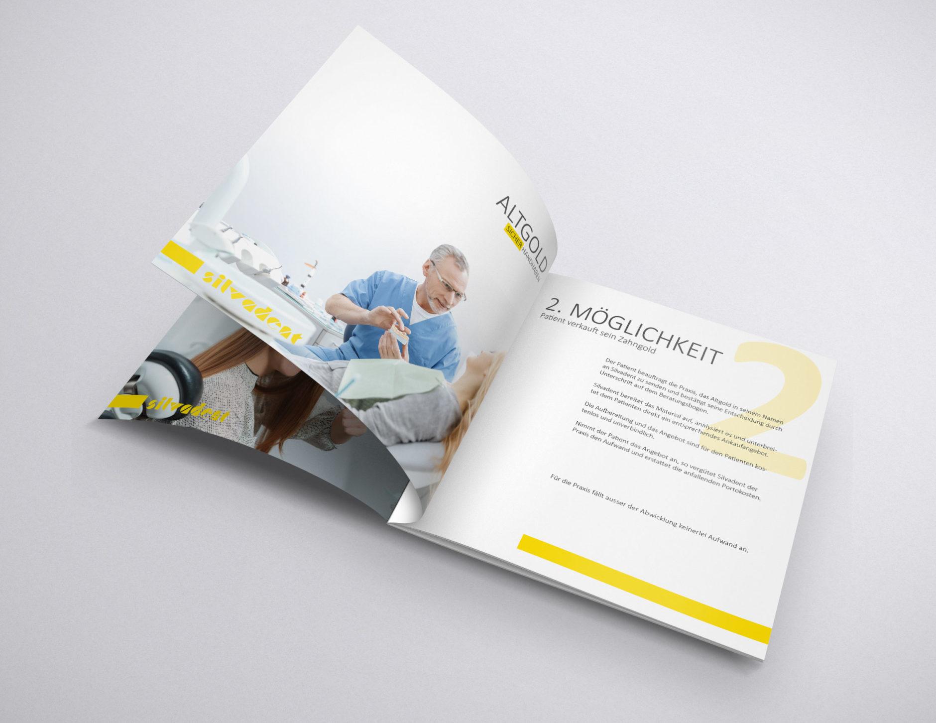 silvadent broschuere infoflyer zahngold altgold q4 56-Broschüre Silvadent