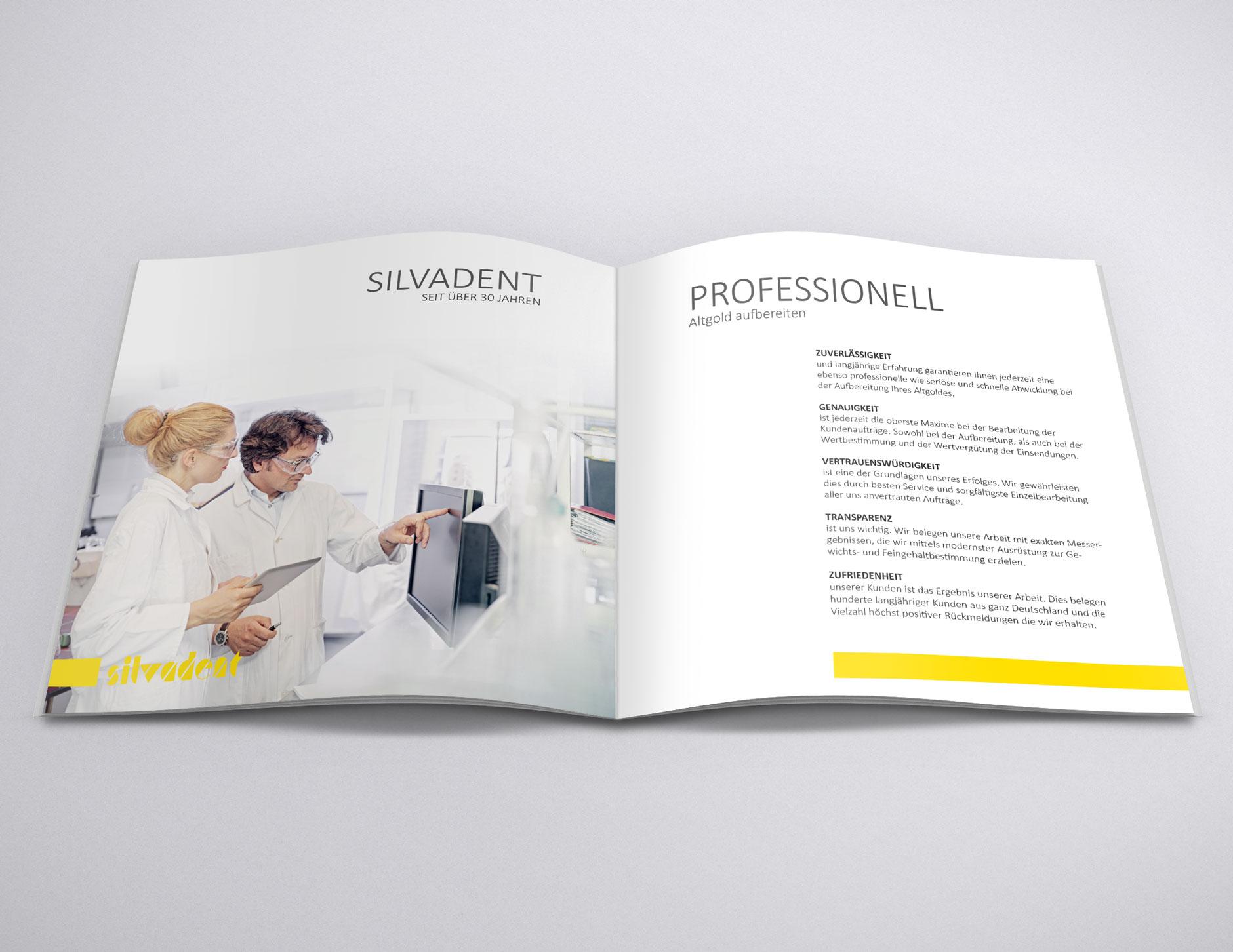 silvadent broschuere infoflyer zahngold altgold q4 78-Broschüre Silvadent