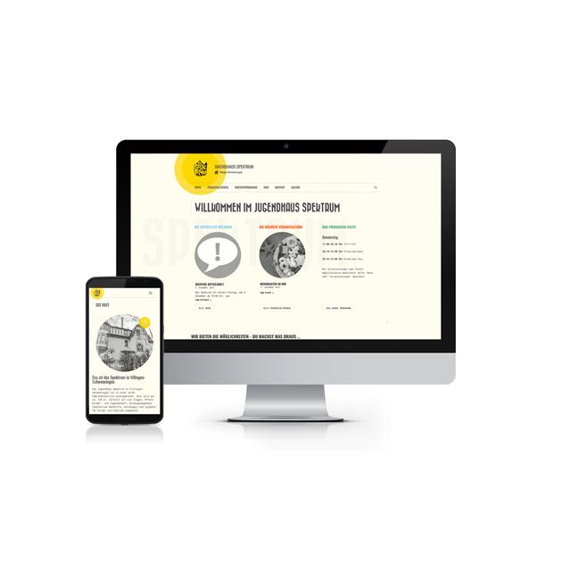Webdesign Jugendhaus Spektrum 640-ARBEITEN