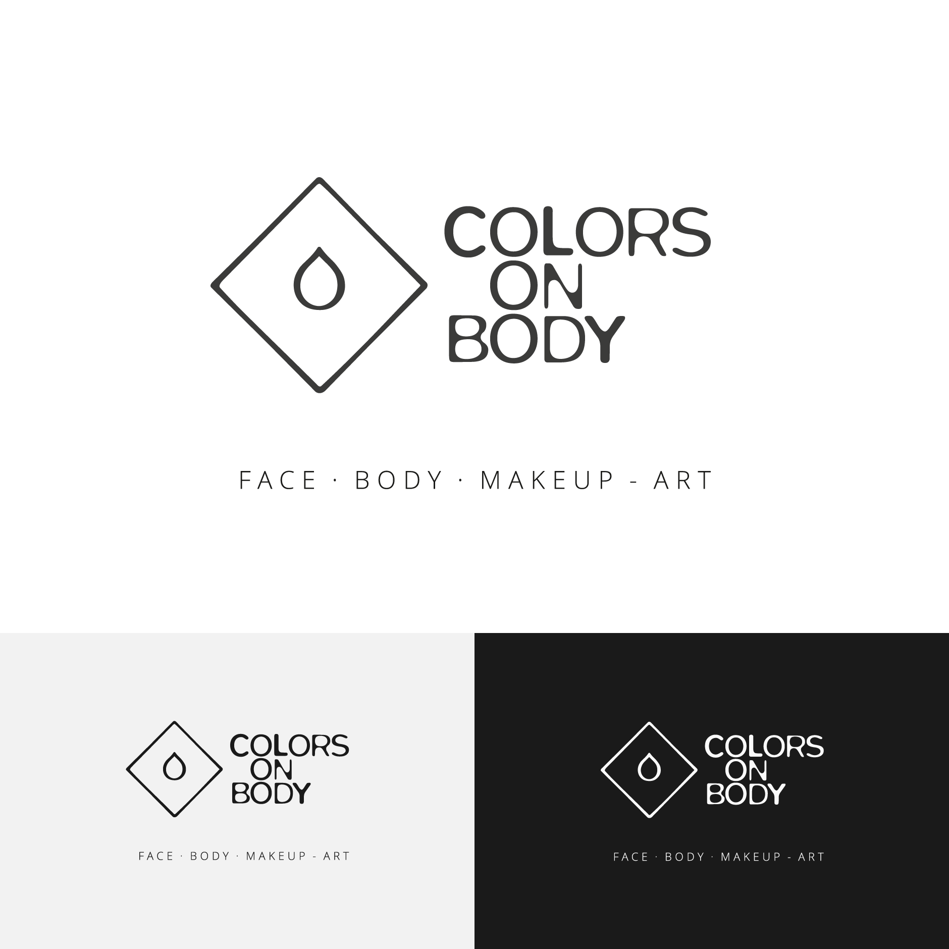 colors on body facepainting bodypainting logodesign-Colors on Body Logodesign