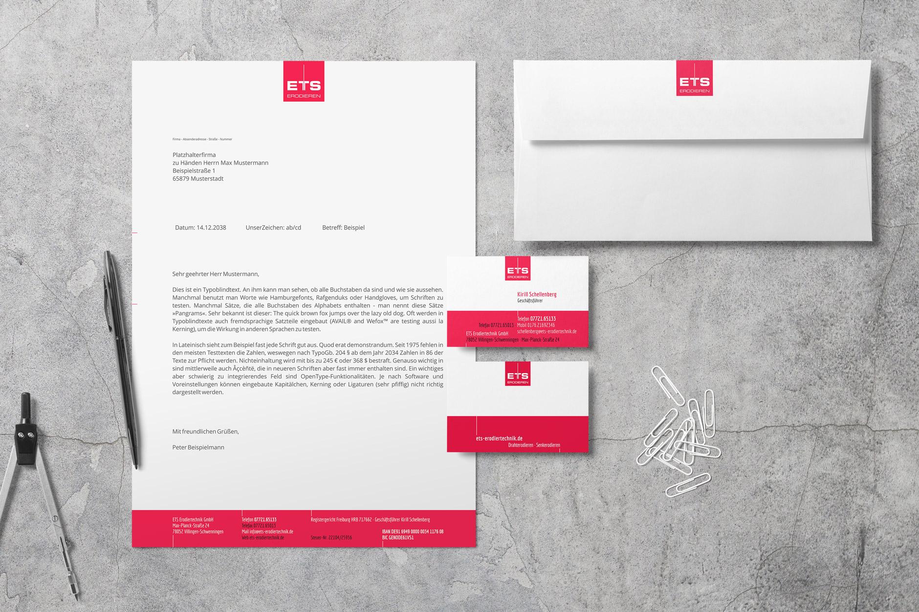 design ETS briefpapier visitenkarte -Briefpapier und Visitenkarten ETS