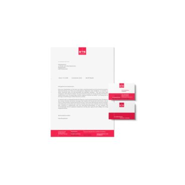 Briefpapier und Visitenkarten ETS