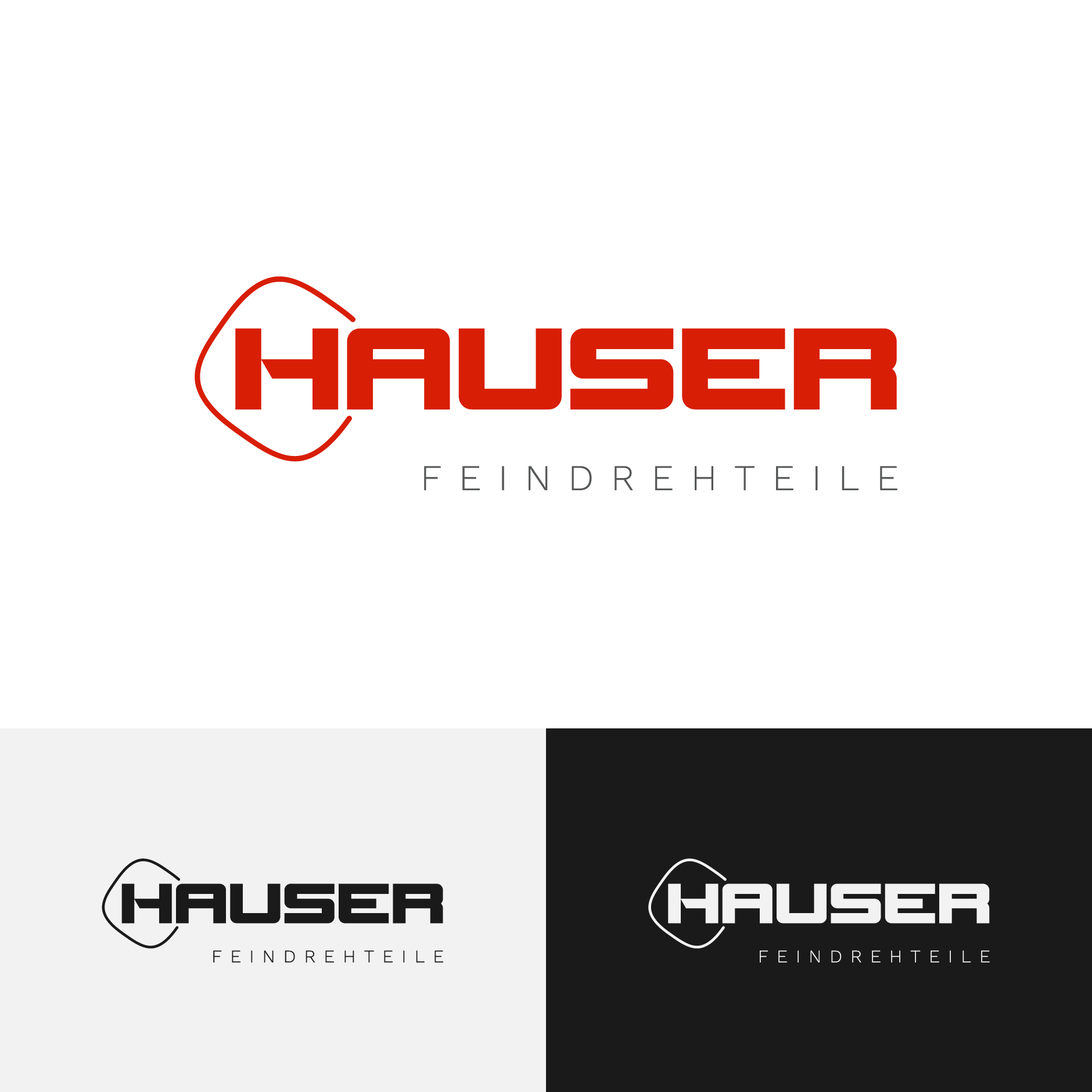 hauser feindrehteile tuningen logodesign-Logodesign Hauser Feindrehteile